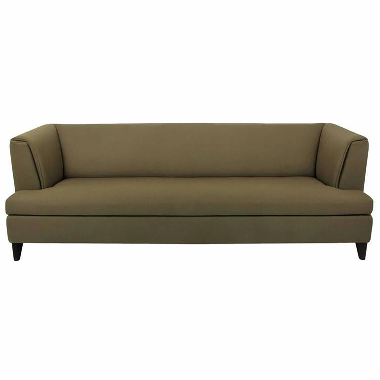 Paolo Piva Tuxedo Sofa in Grey Wool Crepe by Wittmann, Austria For Sale