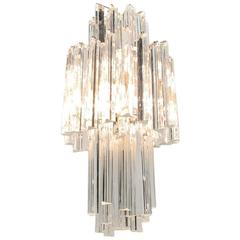 Triple-Layer Venini Chandelier with Long Crystals