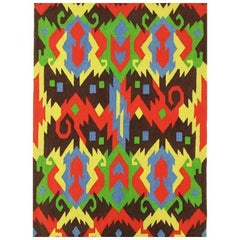 Edward Fields 1972 Colorful Geometric Rug