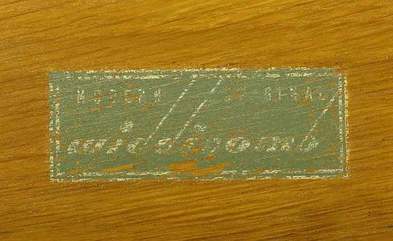 Mid-20th Century Widdicomb Modern Original Figured Mahogany Three-Drawer Commode For Sale