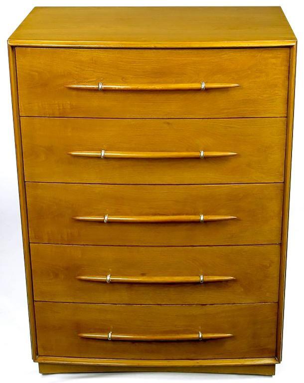 American T. H. Robsjohn-Gibbings Tall Walnut Dresser for Widdicomb For Sale
