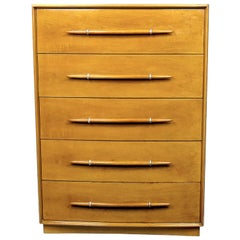 T. H. Robsjohn-Gibbings Tall Walnut Dresser for Widdicomb