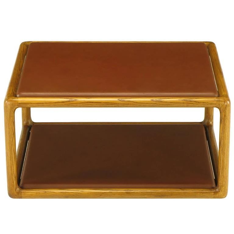 Ward Bennett Ash and Elephant Hide Open Frame Coffee Table