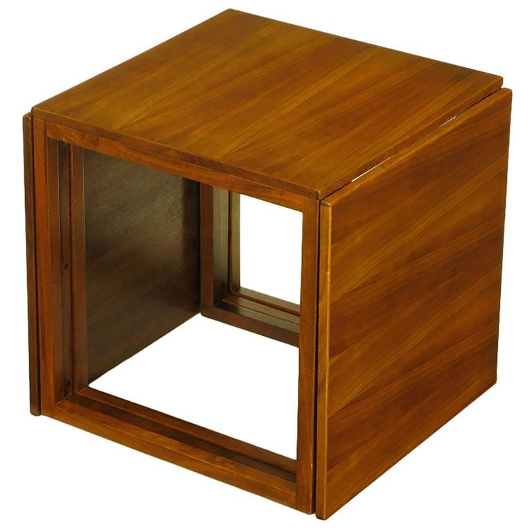 Trio Of Kai Kristiansen Nesting Cube Tables In Teak For Sale