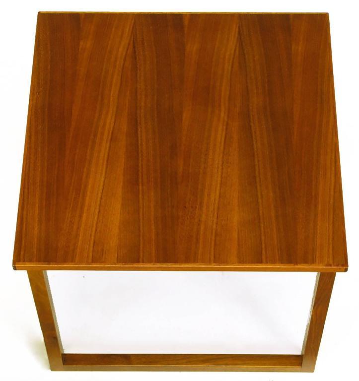 Mid-20th Century Trio of Kai Kristiansen Nesting Cube Tables in Teak For Sale