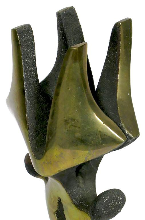 Abstract Bronze Sculpture by C. Kraus For Sale 3