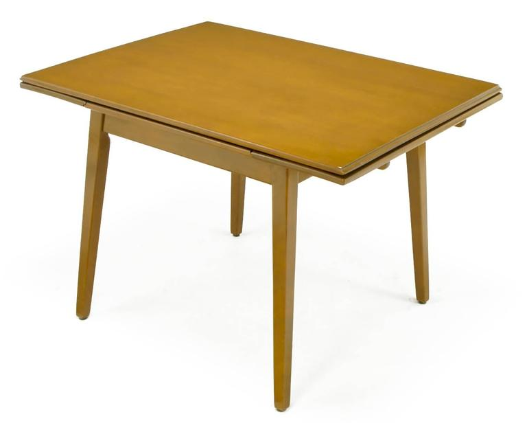Jan Kuypers Birch Draw-Leaf Dining Table by Imperial of Canada In Excellent Condition For Sale In Chicago, IL
