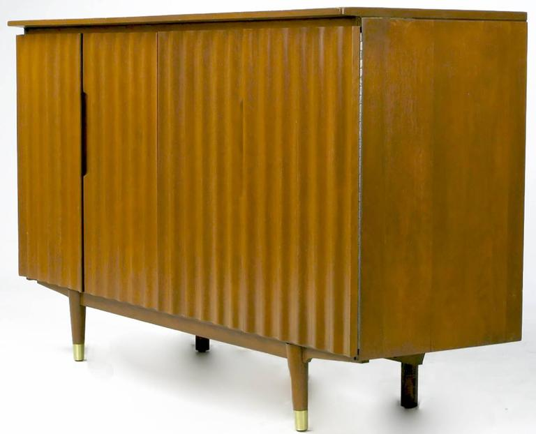American Jan Kuypers Wave Front Birch Sideboard by Imperial of Canada For Sale