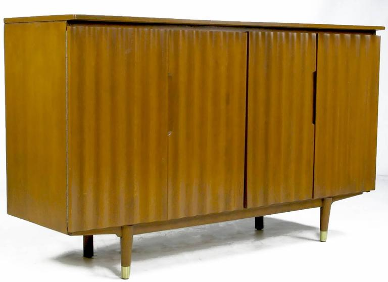 Mid-20th Century Jan Kuypers Wave Front Birch Sideboard by Imperial of Canada For Sale