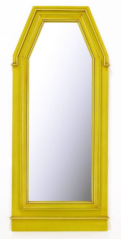 Empire Style Console and Mirror in Glazed Yellow Lacquer 3