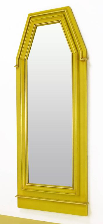 Empire Style Console and Mirror in Glazed Yellow Lacquer 5