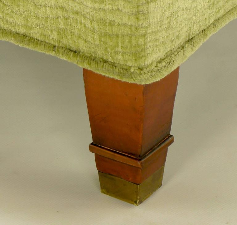 Pistachio Green Leather Sofa: Pair Of Pistachio Green Chenille Button-Tufted Low Barrel