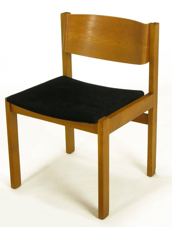 set four harvey probber bleached and bent mahogany dining chairs for sale at 1stdibs