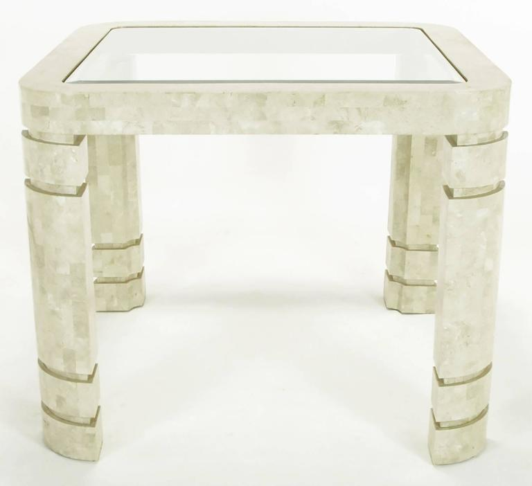 Philippine Postmodern Tessellated Fossil Stone Game Table For Sale