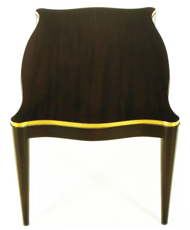 Gold Leaf Davidson Ltd Ribbon Mahogany & Parcel Gilt Regency Coffee Table For Sale