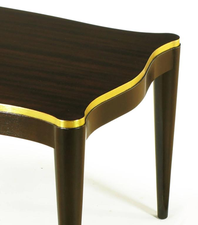 Davidson Ltd Ribbon Mahogany & Parcel Gilt Regency Coffee Table For Sale 1