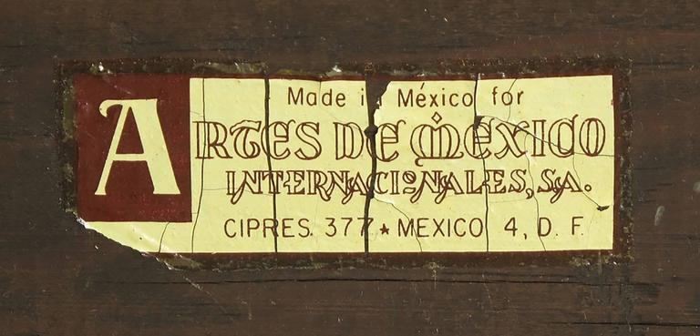 Artes De Mexico Spanish Revival Polychrome Wood Blanket Chest For Sale 3