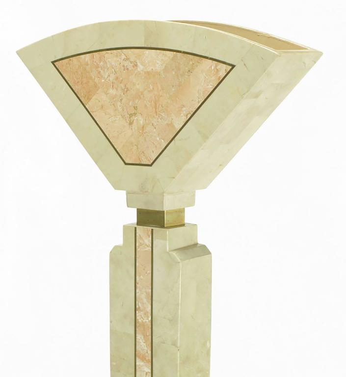 Late 20th Century Tessellated Fossil Stone Floor Lamp by Robert Marcius for Casa Bique For Sale