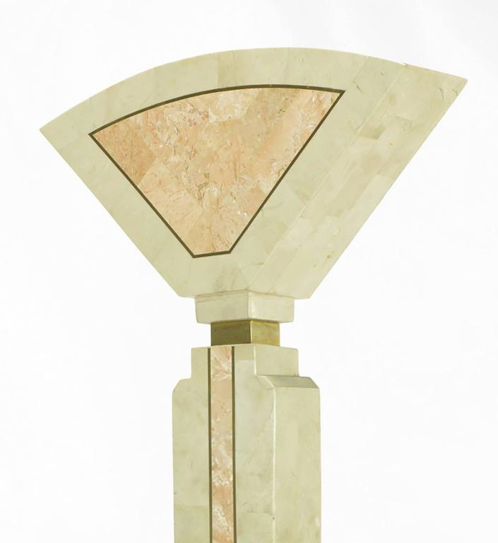 Tessellated Fossil Stone Floor Lamp by Robert Marcius for Casa Bique For Sale 1
