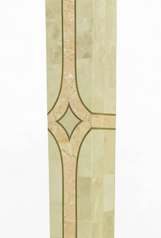 Tessellated Fossil Stone Floor Lamp by Robert Marcius for Casa Bique For Sale 2