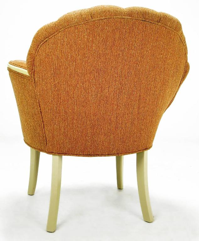 Pair of 1930s Single Arm Art Deco Shell Back Chairs For Sale 1