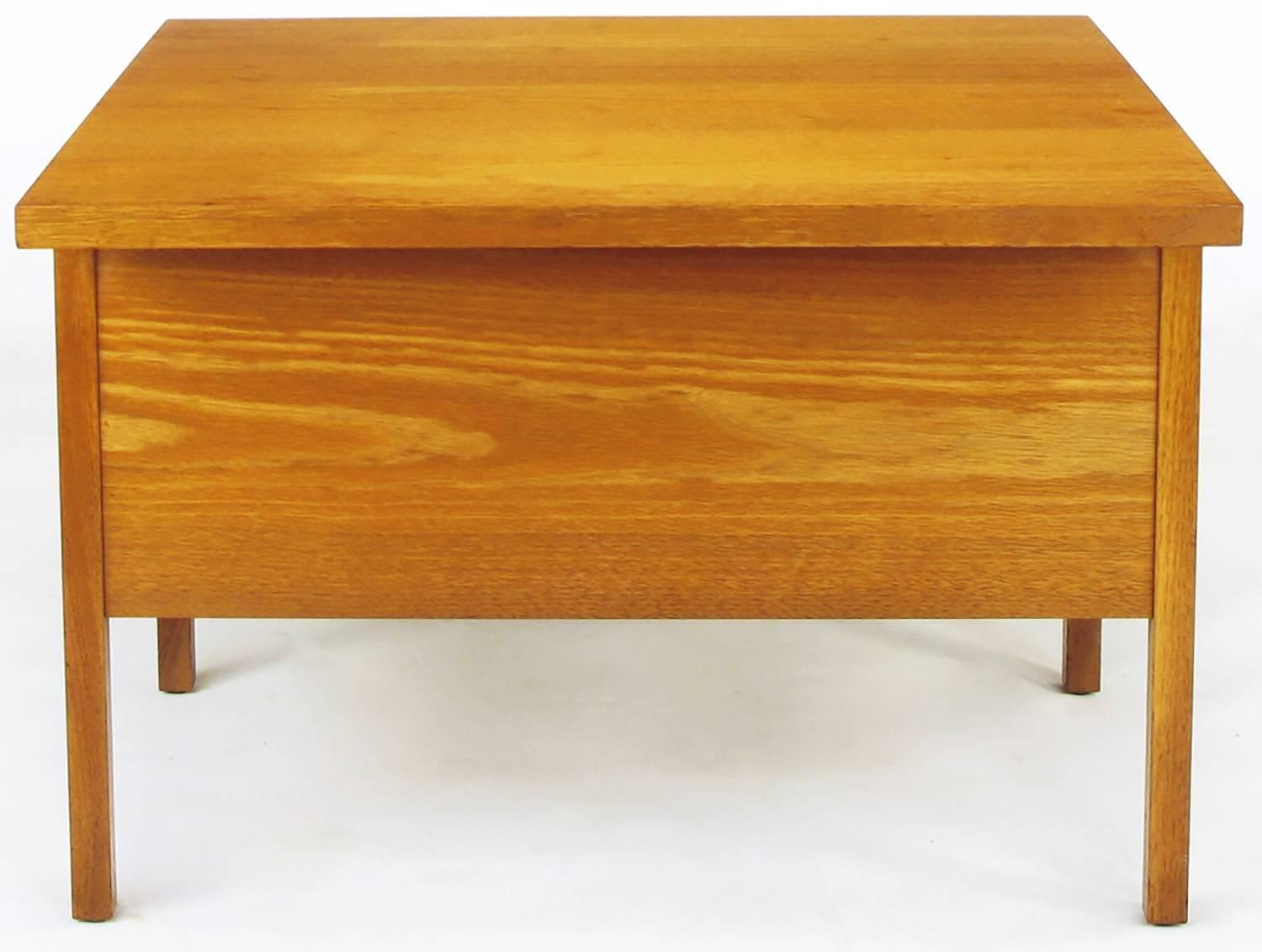 John Keal Walnut Coffee Table With Three Folding Side Tables For Sale At 1stdibs