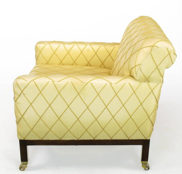 American Edward Wormley for Dunbar Rolled Back Club Chair For Sale