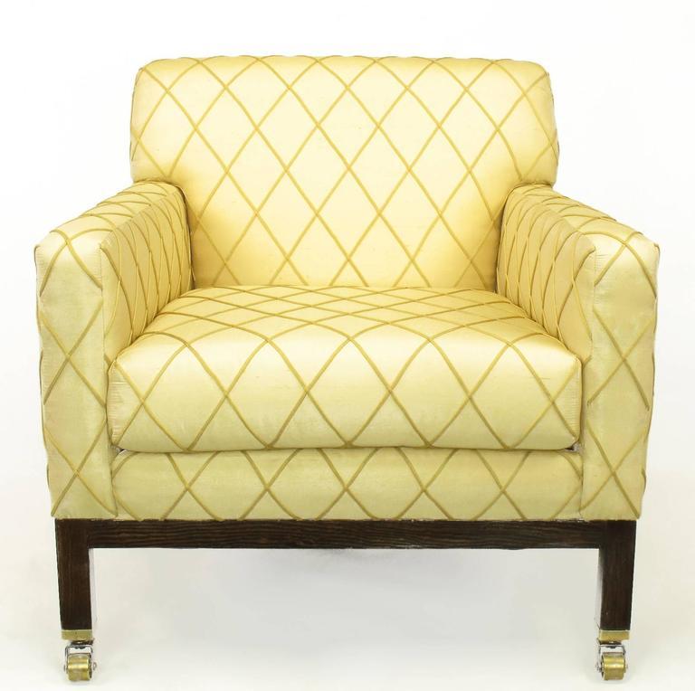 Edward Wormley for Dunbar Rolled Back Club Chair For Sale 1