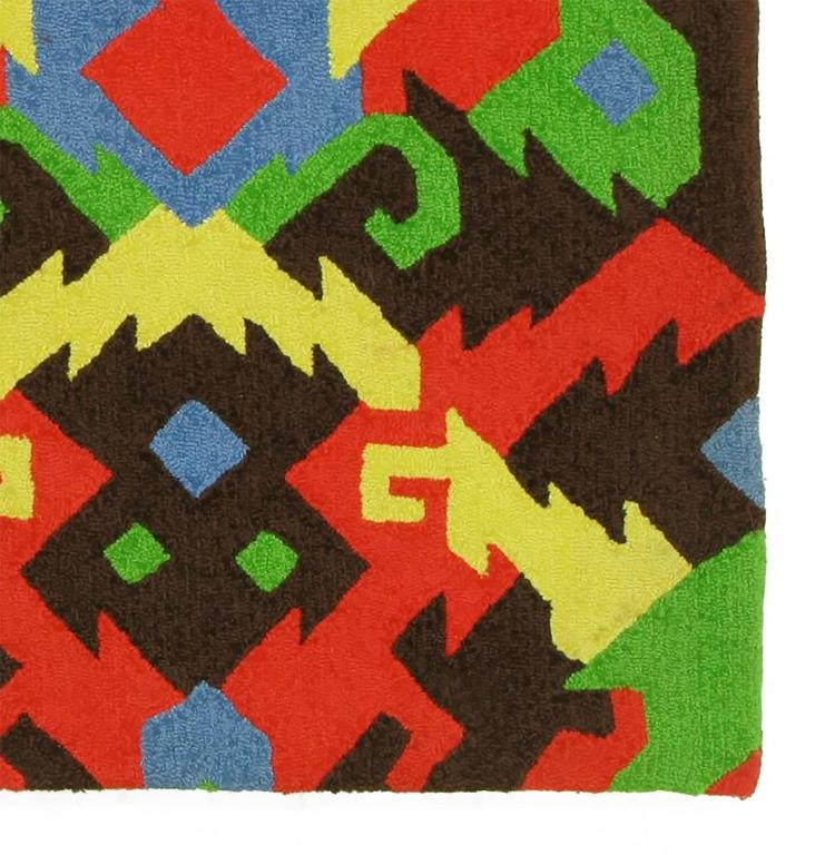 Pair of 1972 edward fields colorful geometric rugs for for Colorful rugs for sale