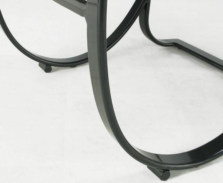 Late 20th Century Set of Six Jay Spectre for Brown Jordan Midnight Blue Metal Dining Chairs For Sale