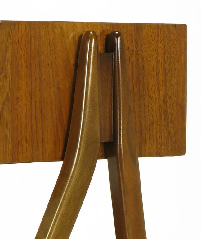 Rare Pair of Kipp Stewart & Stewart Mac Dougall Walnut Nightstands For Sale 1