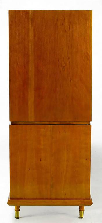 Mid-20th Century Renzo Rutili Walnut Double-Sided Cabinet for Johnson Furniture For Sale