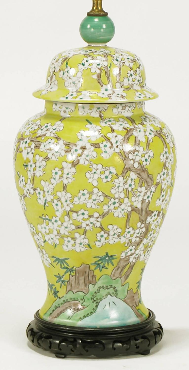 Vintage Canary Yellow Ginger Jar Table Lamp | Design Plus ... |Yellow Ginger Jar Table Lamps