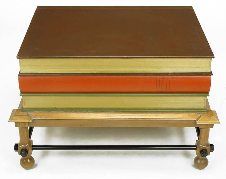 Pair of Rare John Dickinson Stacked Books End Tables In Excellent Condition For Sale In Chicago, IL
