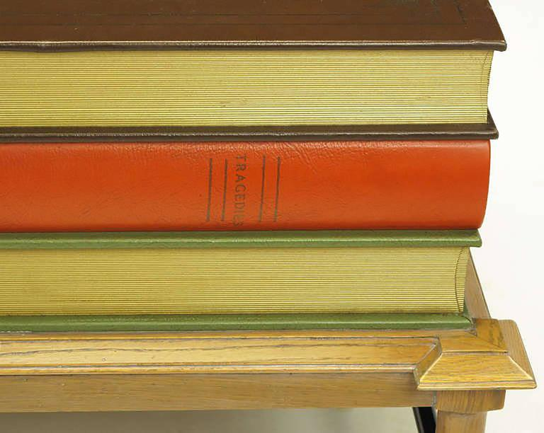 Mid-20th Century Pair of Rare John Dickinson Stacked Books End Tables For Sale