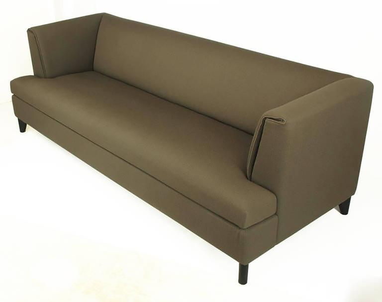Modern Paolo Piva Tuxedo Sofa in Grey Wool Crepe by Wittmann, Austria For Sale