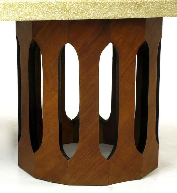 Harvey Probber Terrazzo & Mahogany Double Dodecagon Coffee Table 5