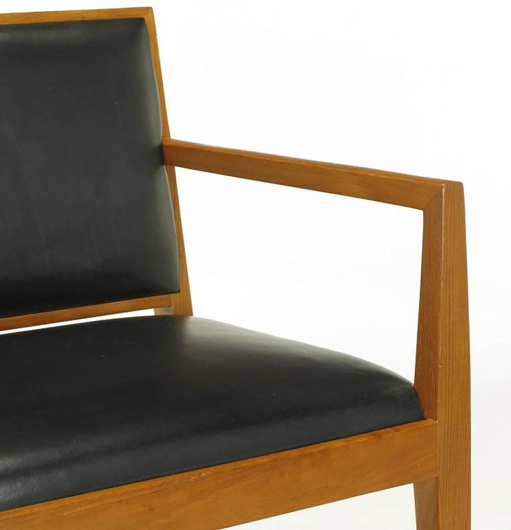 Four Interior Crafts Ash and Leather Armchairs For Sale 2