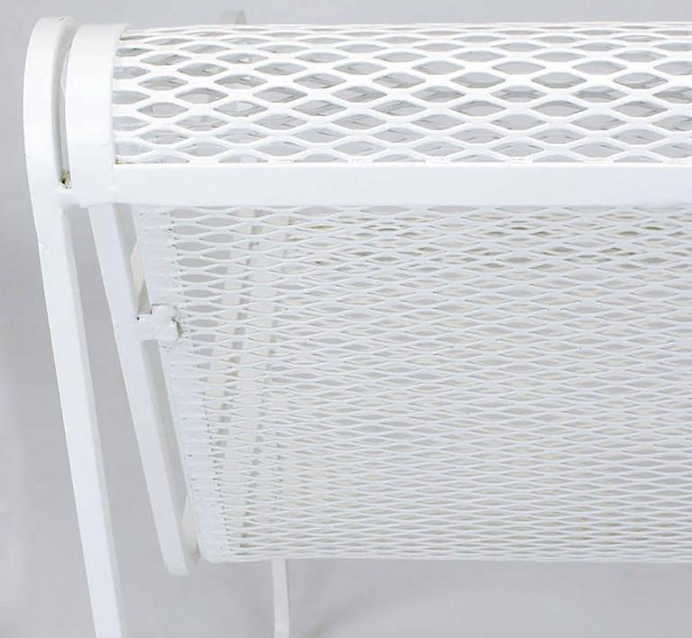 Mid-20th Century Rare Set of Four Maurizio Tempestini White Lacquer Iron Frame and Mesh Chairs For Sale