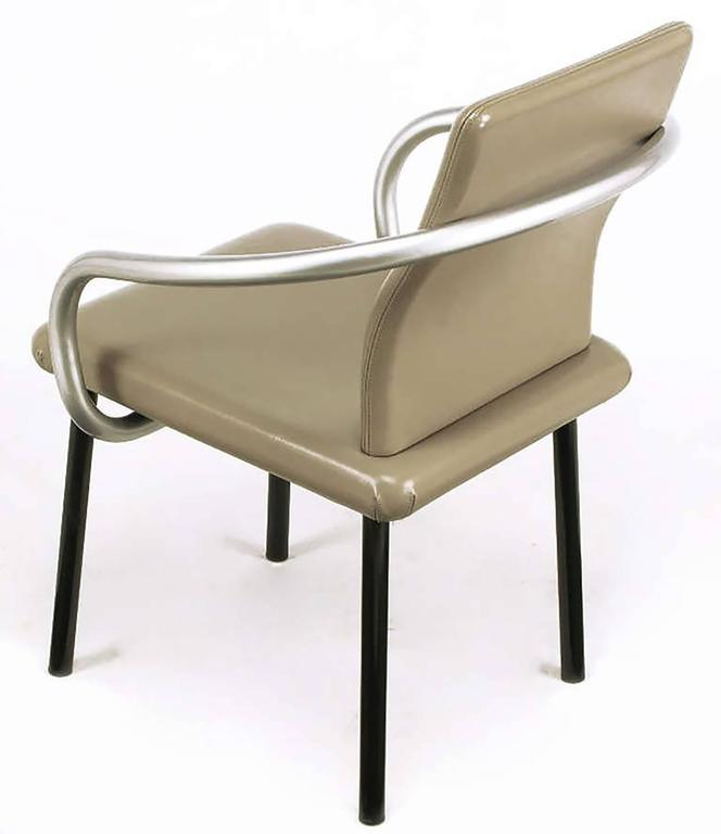 Six Ettore Sottsass Mandarin Chairs for Knoll In Good Condition For Sale In Chicago, IL