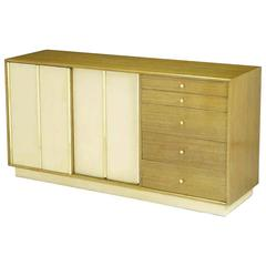 Harvey Probber Bleached Mahogany and Ivory Leather Dresser