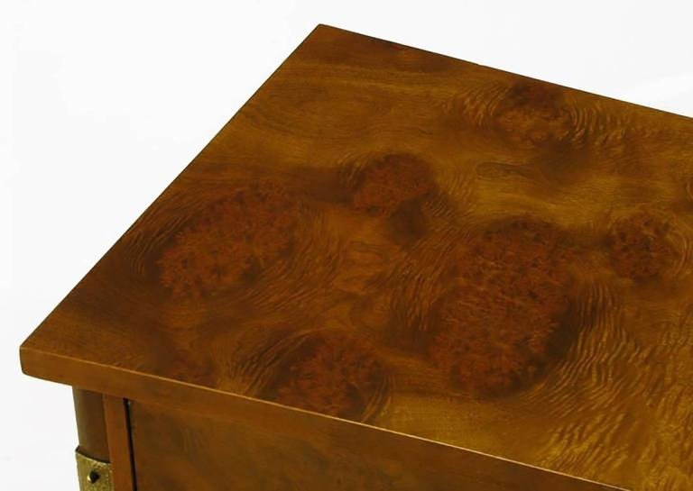 Rare Harold M. Schwartz for Romweber Burled Sideboard with Floating Cabinet For Sale 1