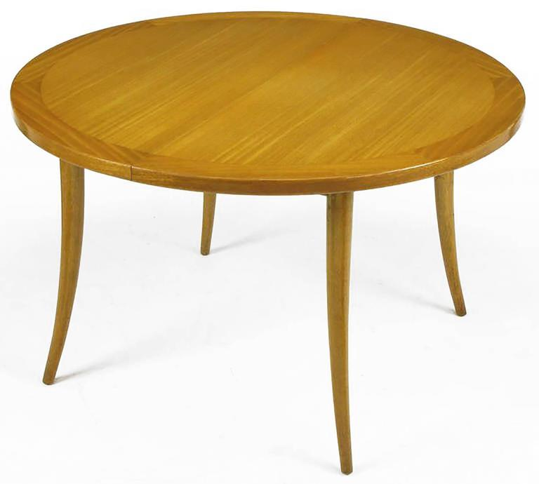 Mid-Century Modern Harvey Probber Bleached Mahogany Saber Leg Dining Table For Sale