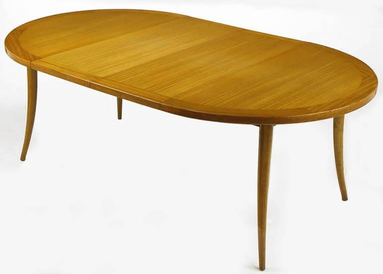 Harvey Probber Bleached Mahogany Saber Leg Dining Table For Sale 1