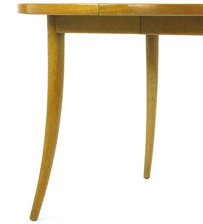 Harvey Probber Bleached Mahogany Saber Leg Dining Table For Sale 2
