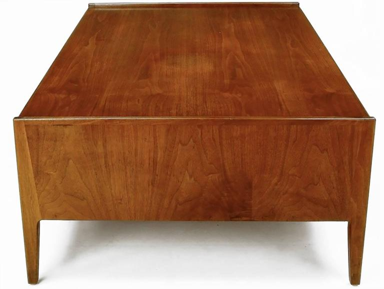 American Richard Thompson for Glenn of California Walnut Coffee Table For Sale