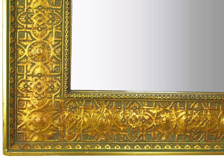 Pair of Large 1920s Egyptian Influenced Gilt Frame Mirrors 1