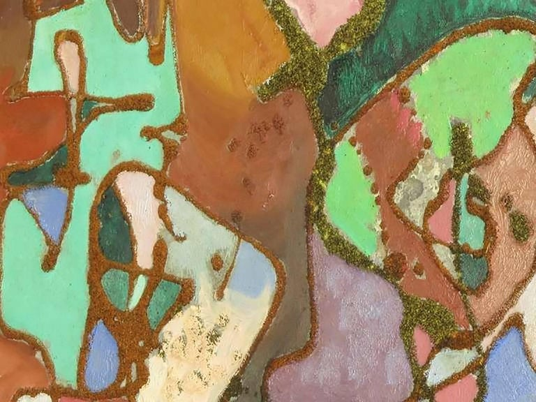 Mid-20th Century William H Littlefield Abstract Mixed-Media on Board For Sale