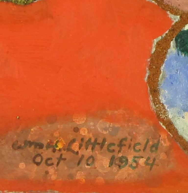 Wood William H Littlefield Abstract Mixed-Media on Board For Sale