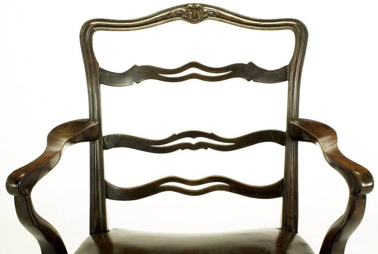 Pair of Early 1900s George III Style Ribbon Back Armchairs For Sale 2